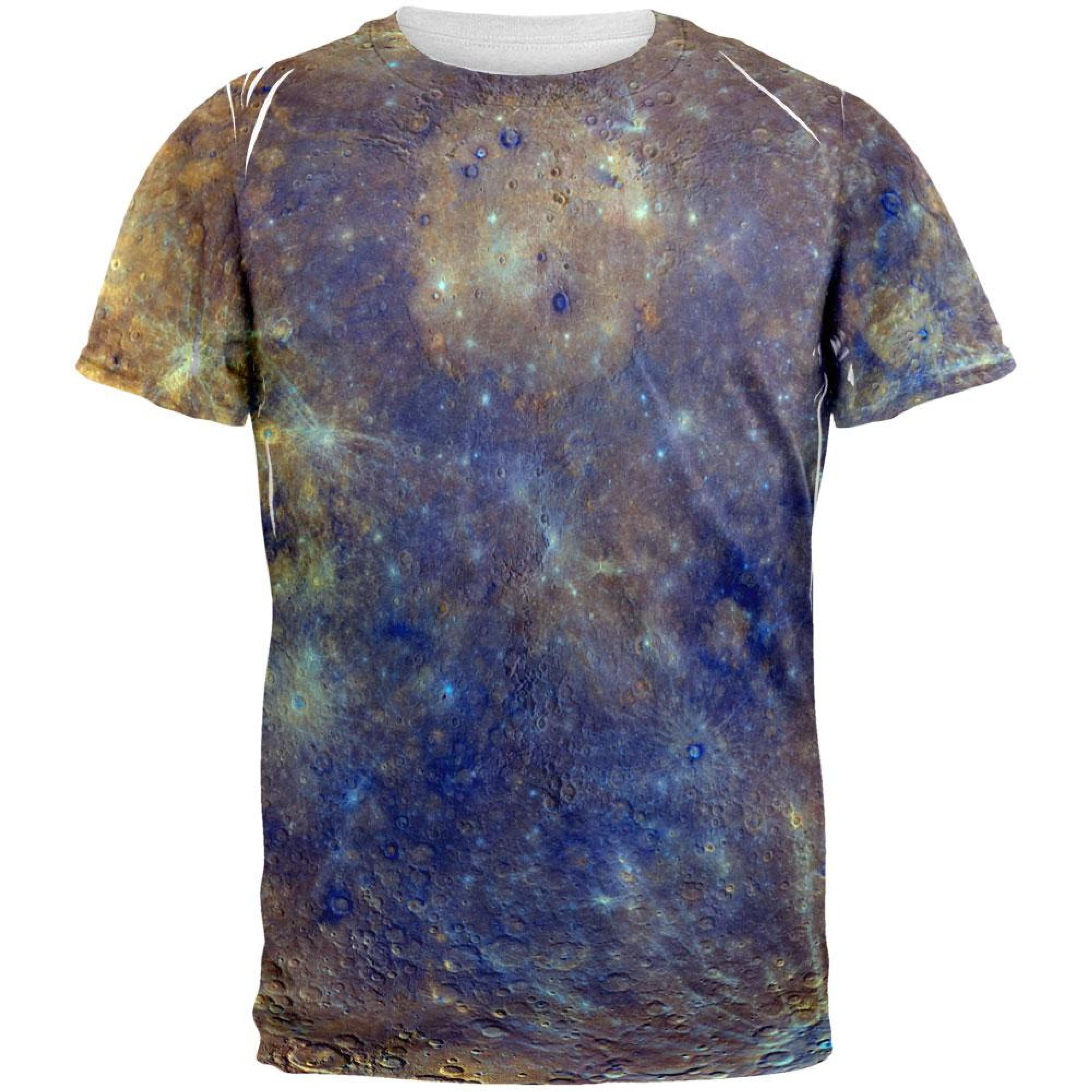 Solar System Planet Mercury All Over Adult T-Shirt