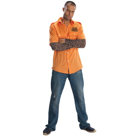 State Prisoner Adult Costume (Adult Prisoner Costume)