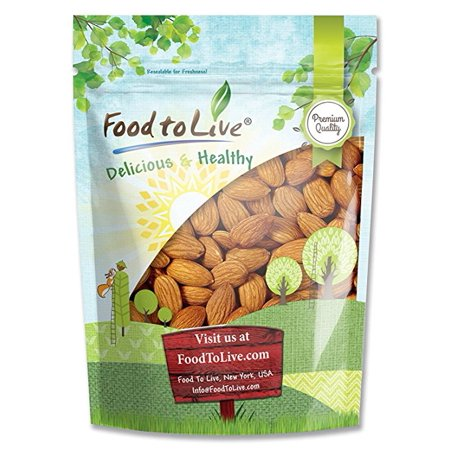 California Almonds, 1 Pound - Whole, Raw, Shelled, Unsalted, Kosher, Vegan - by Food to (Whole Food)