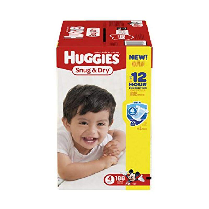 Huggies Snug & Dry Value Box Size 4 - 184 Count