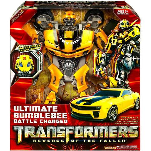 Hasbro ULTIMATE Bumblebee Action Figure Battle Charged Tr...