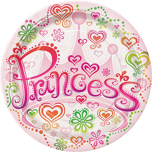 "7"" Diva Princess Party Plates, 8ct"