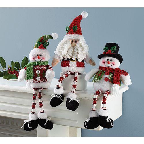Burton Santa & Snowman Shelf Sitter, 3 Assorted