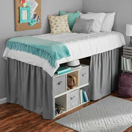 Mainstays Extra Long Extended Dorm Bed Skirt 1 Each