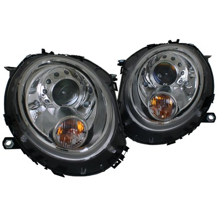 Mini Cooper & Cooper S R55/R56/R57/R58/R59 Chrome OE Style Projector Headlights