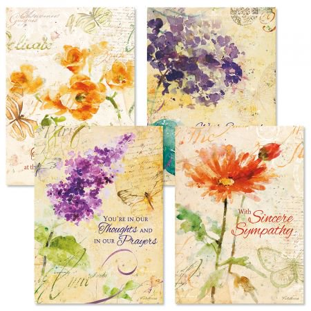 Peace Sympathy Greeting Cards - Set of 8 (4 designs), Large 5