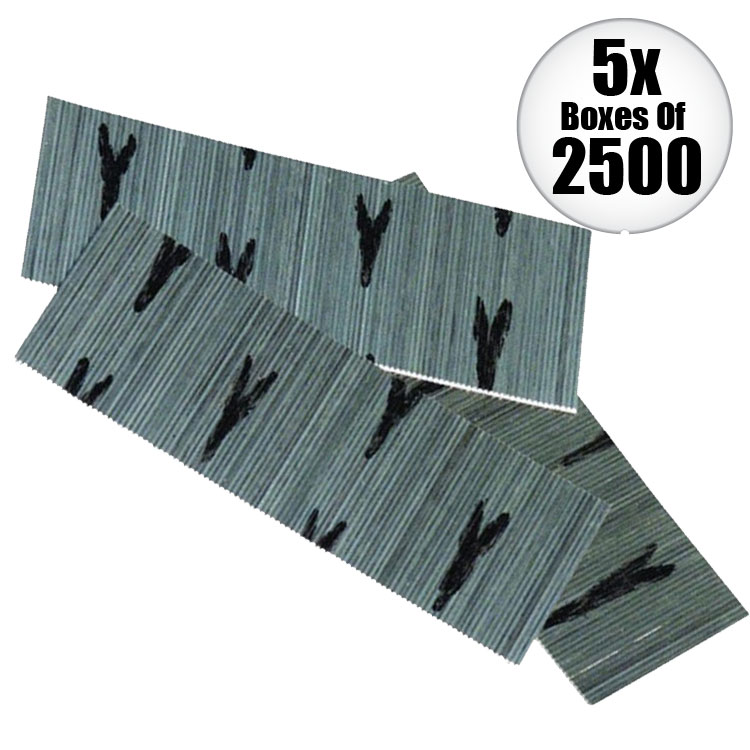 "Senco A109909 2,500pk 1"" - 2"" 23G Galvanized Micro Pin Nails Variety Pack 5-Pack"