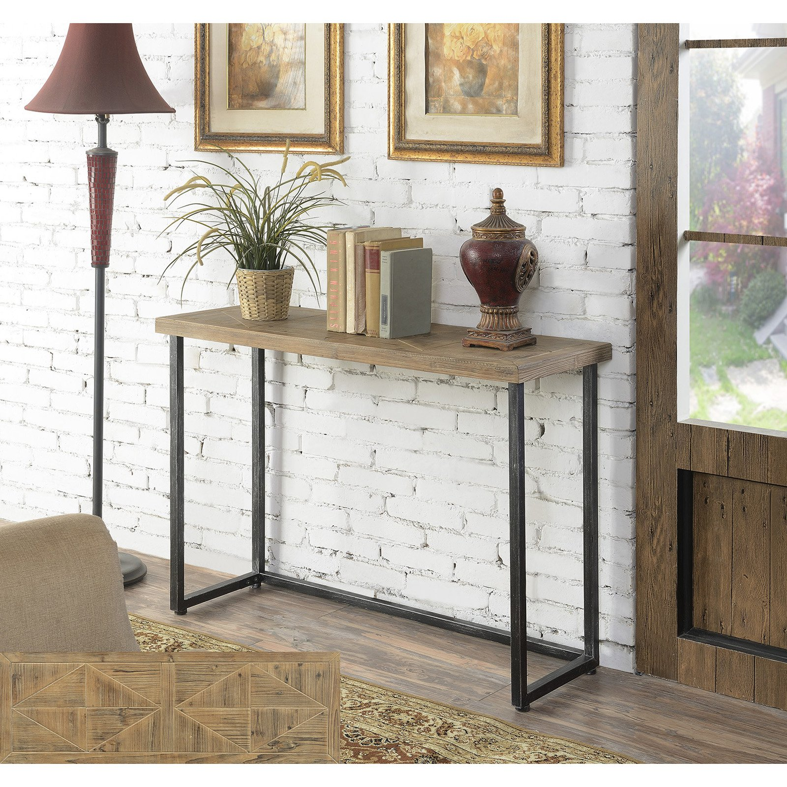 Convenience Concepts Laredo Parquet Console Table by Convenience Concepts