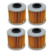 Factory Spec, FS-718, 4 PACK Oil Filters Honda ATV TRX450R TRX450ER CRF250R CRF450R