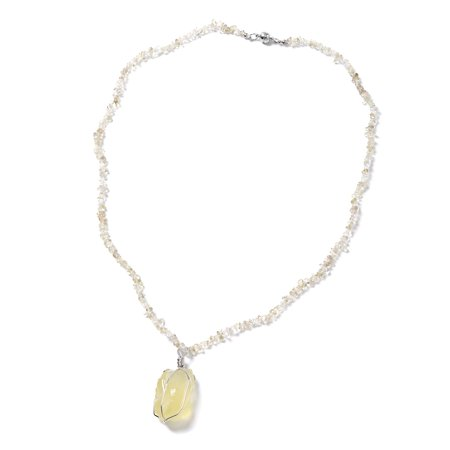 Lemon Quartz Iron Beads Pendant Necklace for Women 28
