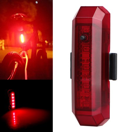 Ultra Bright Bike Light TSV Cyborg 168T USB Rechargeable Bicycle Tail Light. Red High Intensity Rear LED Accessories Fits On Any Road Bikes, Helmets. Easy To Install for Cycling Safety (Best Road Bike Front Light)