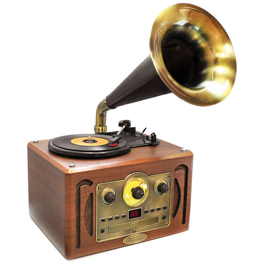 PVNP30BT Pyle bluetooth retro turntable with horn