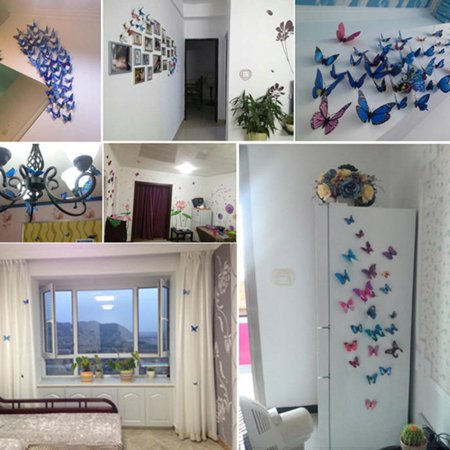 Wall Decal Cartoon Simulated Butterfly Removable Wall Paper Living Room Decor - image 6 de 6