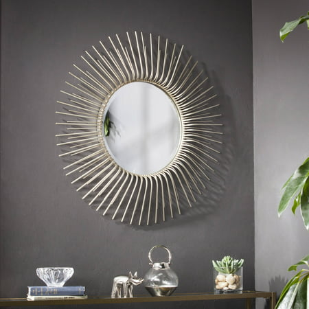 Southern Enterprises Toussai Round Oversized Sunburst Wall Mirror, Champagne Gold ()