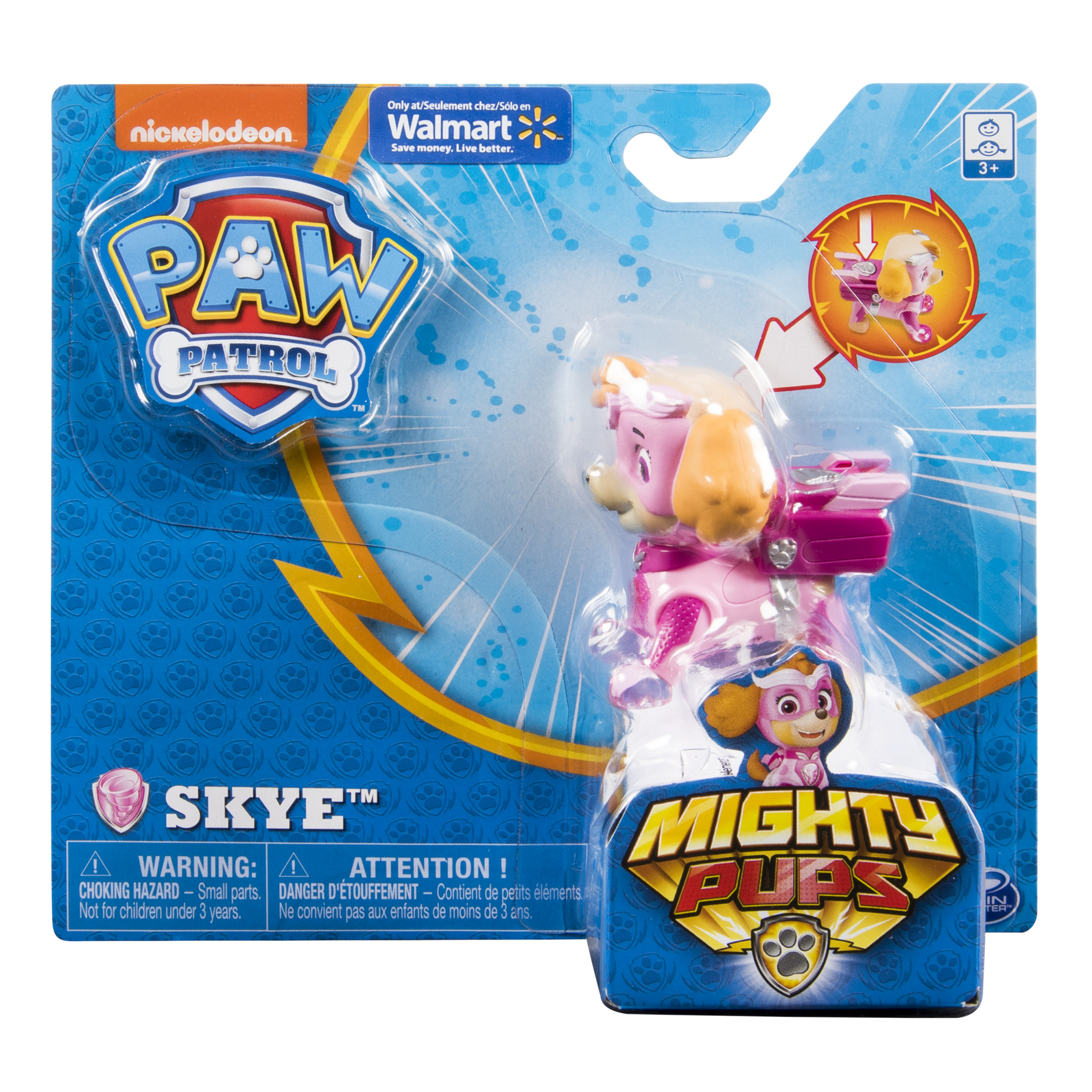 PAW Patrol - Mighty Pups Skye Figure with Light-up Badge and Paws