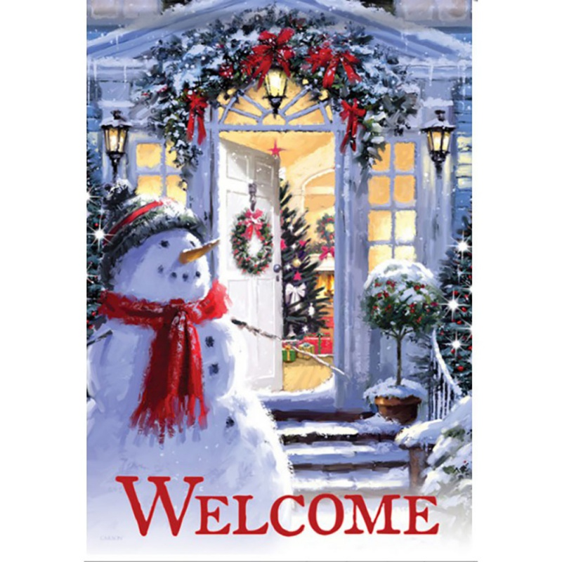 Sided Welcome Farmhouse Red Truck With Tree Merry Xmas Christmas Garden Flag
