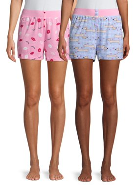 Secret Treasures Women's and Women's Plus 2-Pack Sleep Short Set