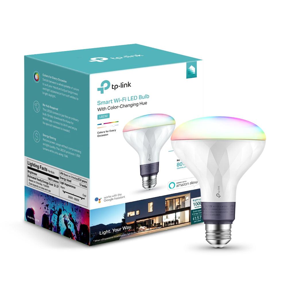 TP-Link LB230 BR30 Smart Light Bulb, 80W Color LED, 1-Pack