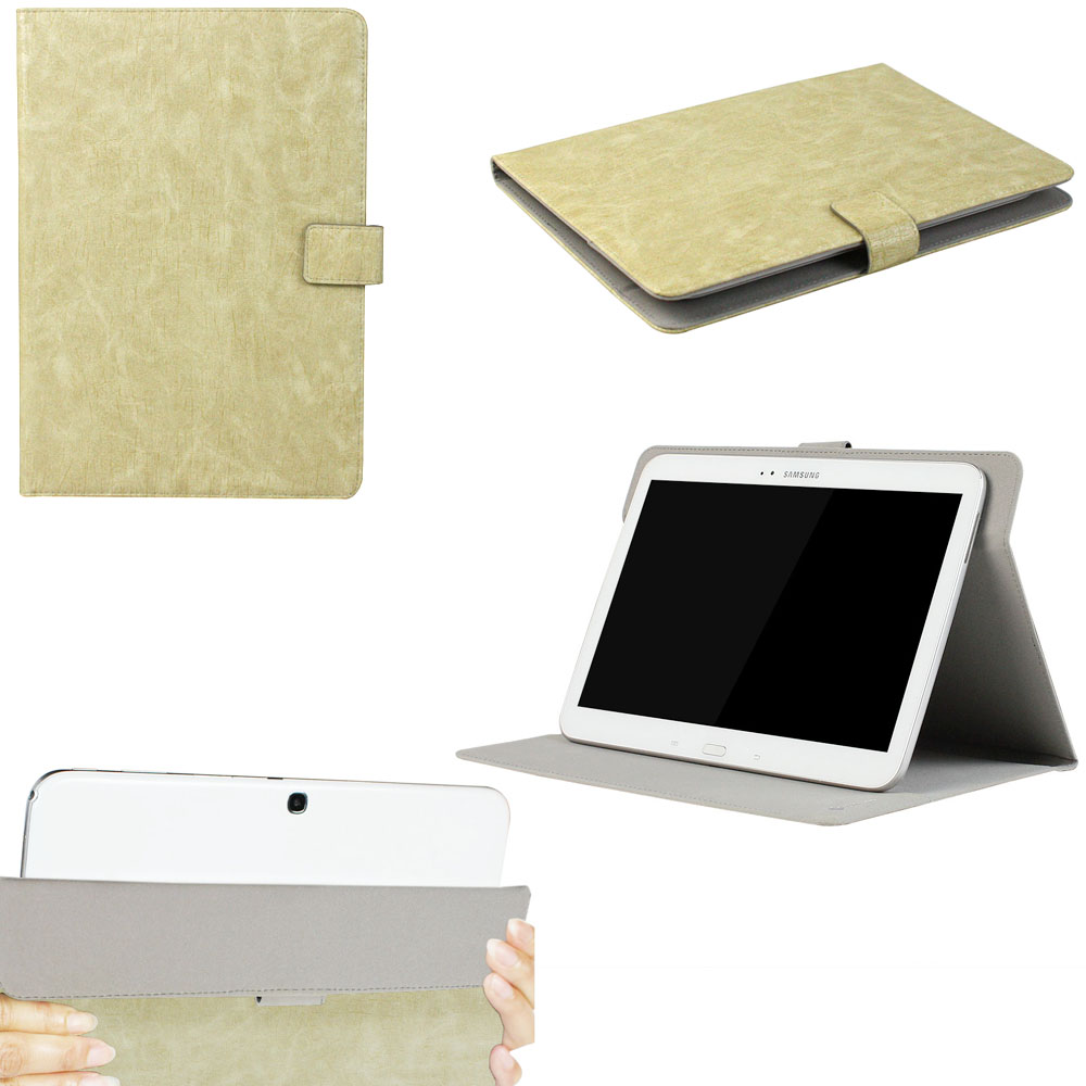 "JAVOedge Beige Vintage Pattern Universal Book Case for 9-10"" Tablets, iPad Air, Samsung Note, Nook HD 9, Nexus 10 + More"