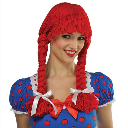 Braided Rag Doll Wig Adult Costume Accessory for $<!---->