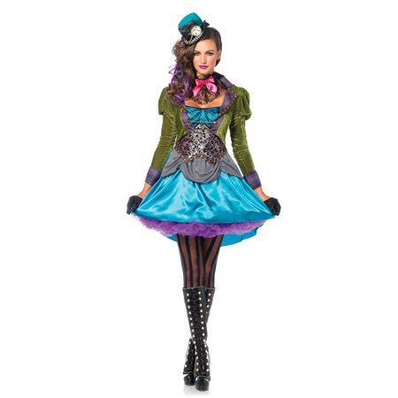 Leg Avenue Deluxe Mad Hatter Adult Womens Costume - Mad Hatter Woman Costume