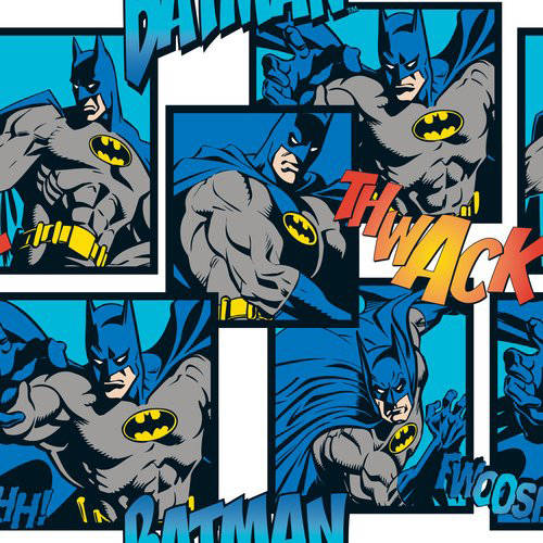 "DC Comics Cotton Flannel 42"" Batman Directional Fabric, per Yard"