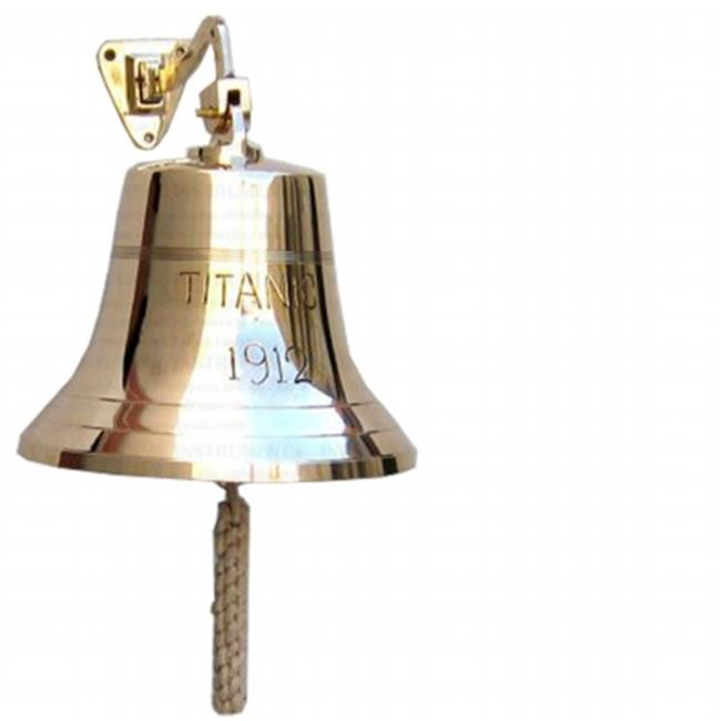 Old Modern Handicrafts ND048 Titanic Ship Bell - 8 inches