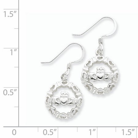 Sterling Silver Claddagh Wire Earrings QE4165 - image 1 de 2