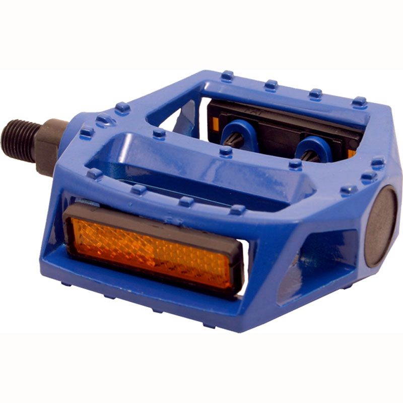 Blue Bike Pedals With Reflector Bicycle Pedals Alloy