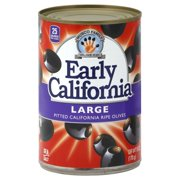 (4 Pack) Early California® Large Pitted California Ripe Olives 6 oz. Can
