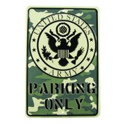 US ARMY Parking Only Embossed Tin Sign Garage/Auto Shop Wall Decor Military Gift