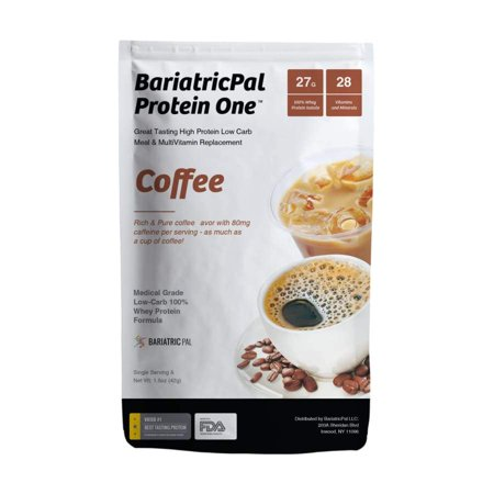 BariatricPal Protein One MultiVitamin, Calcium, Iron, Fiber & Meal Replacement - Coffee