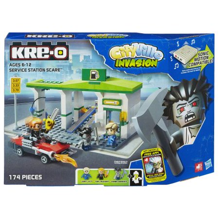 KRE-O CityVille Invasion Service Station Scare Set (A3246) (All American Kre Alkalyn)