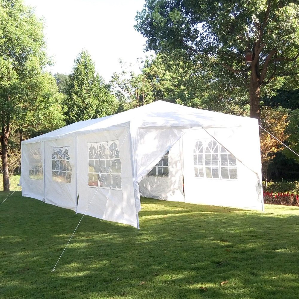Zimtown 10' x 30' Party Tent Wedding Canopy Gazebo Pavilion w/8 Side