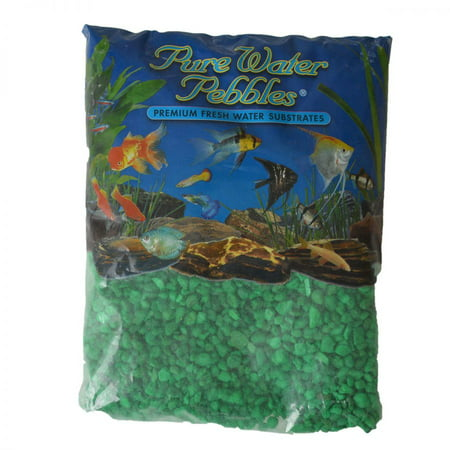 Pure Water Pebbles Aquarium Gravel - Neon Green 5 lbs (3.1-6.3 mm (Series Etx Non Potable Water Expansion Tank)