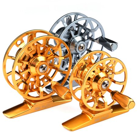 1pc* Fishing Reel Exported to Japan Glod/Silver Fly Reel 45g Fly Fishing Wheel Diameter 60mm HI45R/HI55R thumbnail