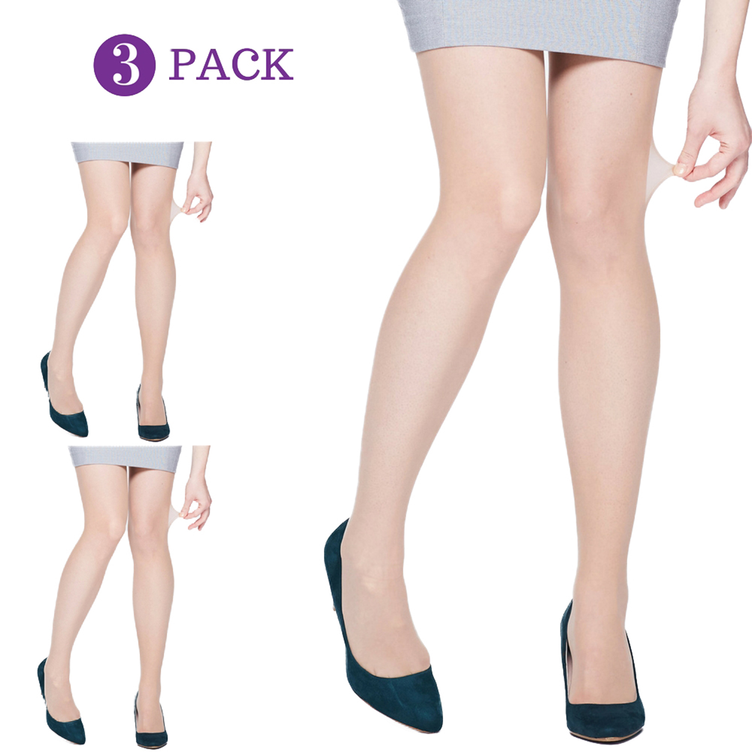 Nude 3 PACK 15 Denier Tights   Long Tall Sally