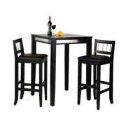 Home Styles Manhattan Black Pub Table and 2 Stools by Pub Tables