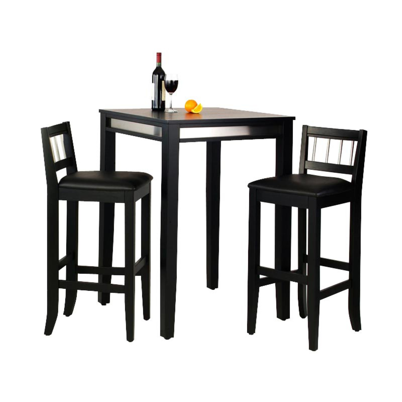 Home Styles Manhattan Black Pub Table and 2 Stools