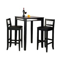 Home Styles Manhattan Black Pub Table and 2 Stools by HomeStyles