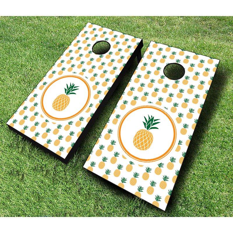 AJJ Cornhole Pineapple Cornhole Set by