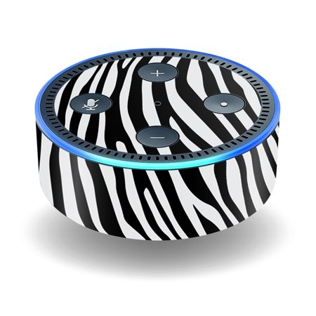 Skin Decal Wrap For Amazon Echo Dot  2Nd Generation  Stickers Black Zebra