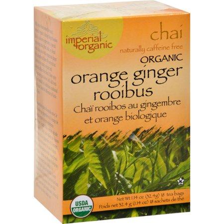Uncle Lee's Imperial Organic Chai Tea Orange Ginger Rooibus -- 18 Tea Bags
