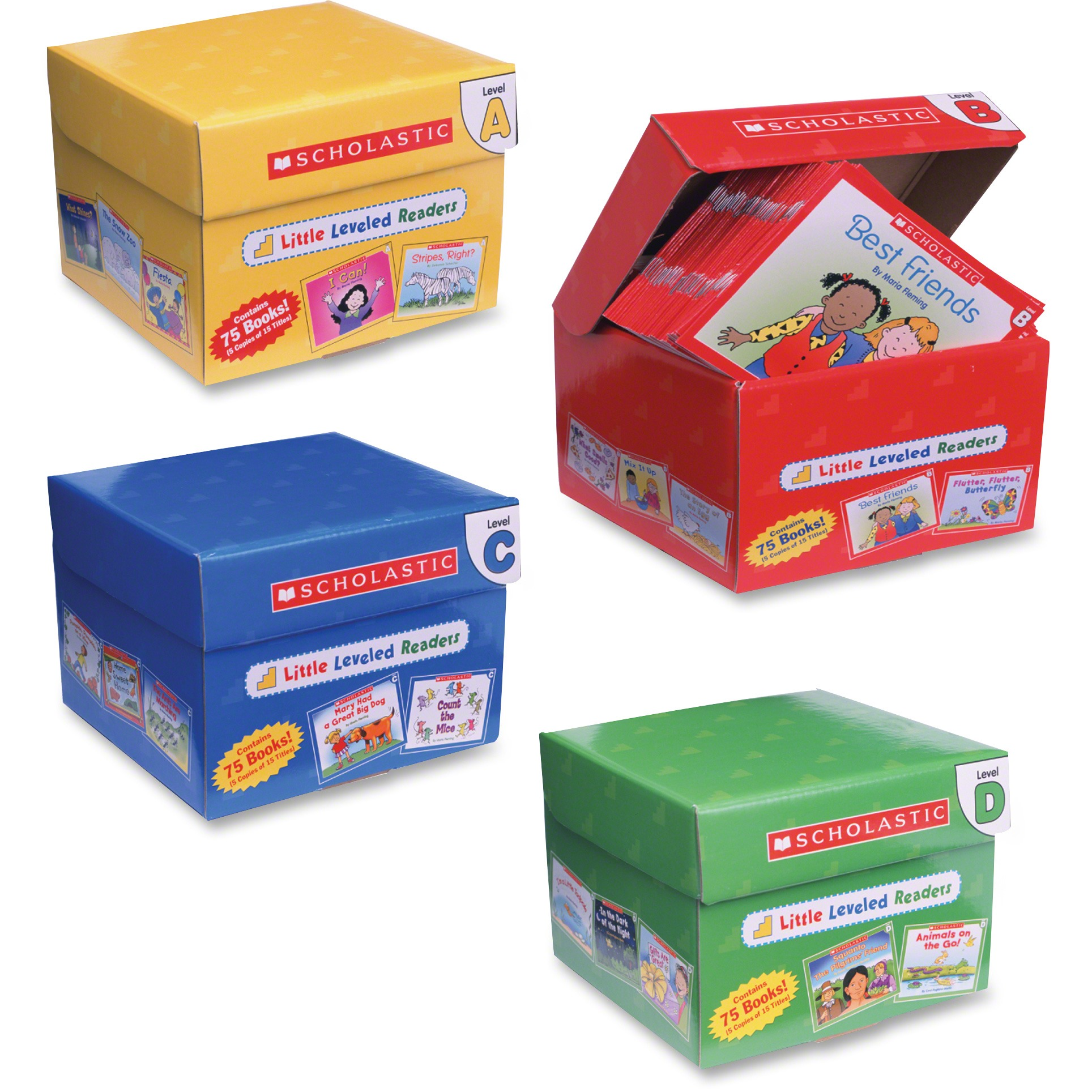 Scholastic, SHS0439632390, Res. Pre K-2 Little Leveled Readers Set, 300 / Set