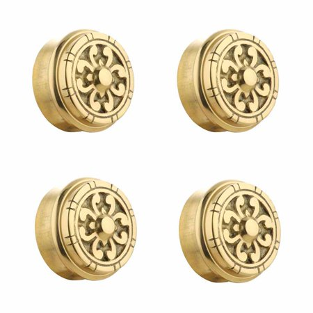 Polished Brass End (4 Fits 2 inch Polished Solid Brass Fits 2 in. RSF Brass Decorative End P)