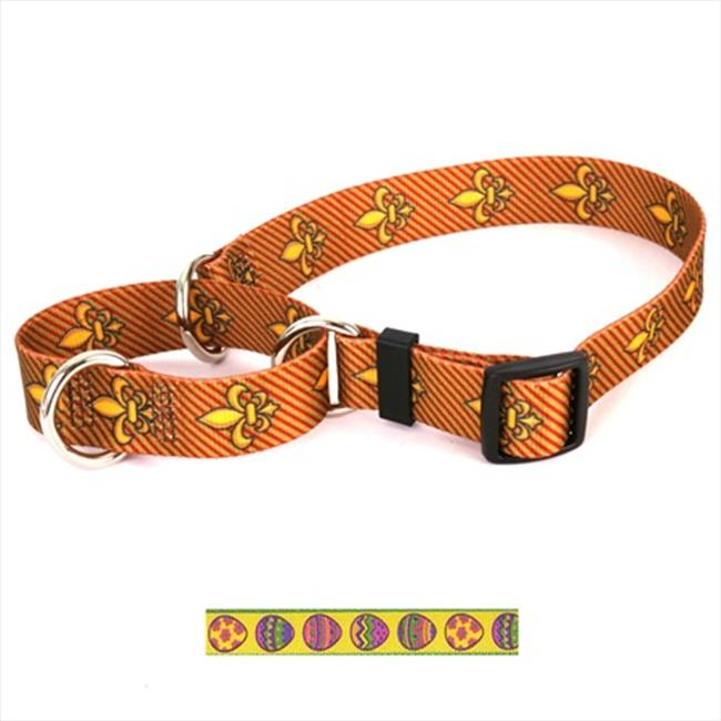 Yellow Dog Design M-EE103L Easter Eggs Martingale Collar - Large