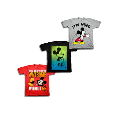 Mickey Mouse Short Sleeve Mickey Graphic Tee 3 Pack Value Bundle (Little Boys & Big Boys) - Diy Mickey Mouse Costume