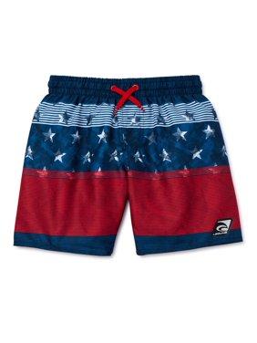 Laguna Boys Americana Swim Trunks with UPF 50+, Sizes 8-20