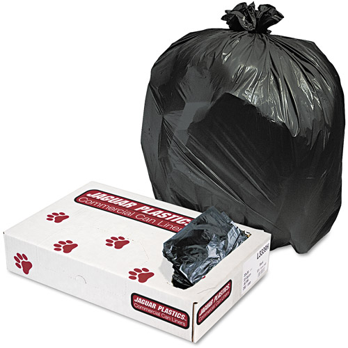 Jaguar Plastics Industrial Strength Black Commercial Can Liners, 33 gal, 200 ct