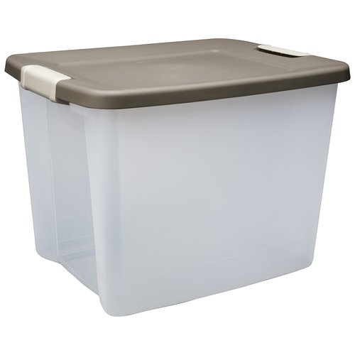 Sterilite 25 Quart Clear Base Shelf Tote
